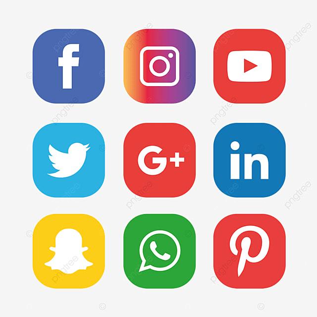 social media icons set facebook instagram whatsapp