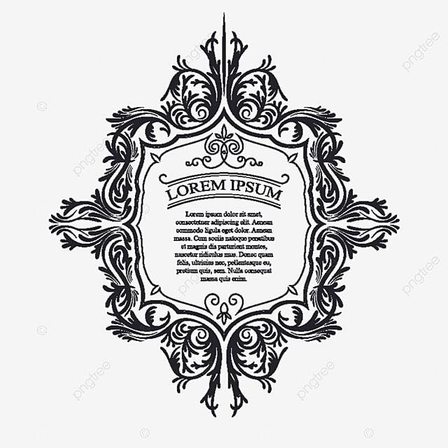 Ilustración Vectorial De Una Vendimia Ornamento, Marco, Tag ...