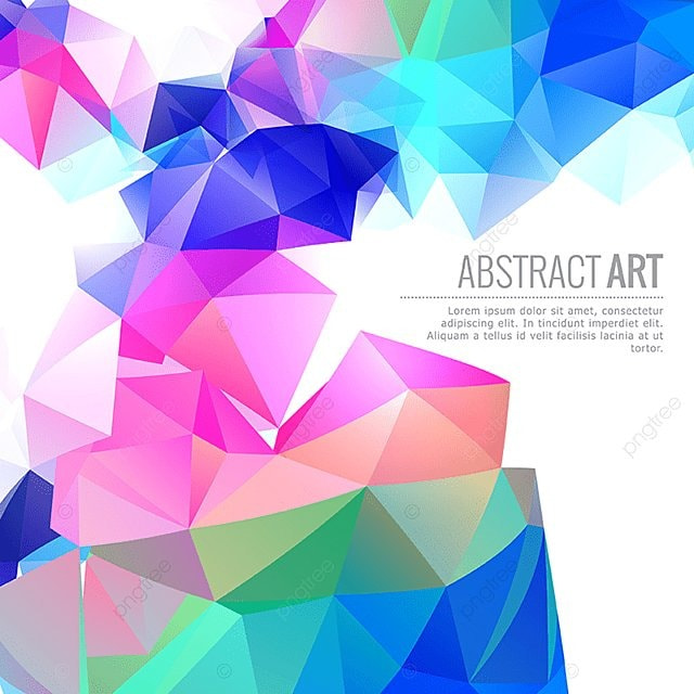 Colored Abstract Geometric Background Vector, Abstract ...