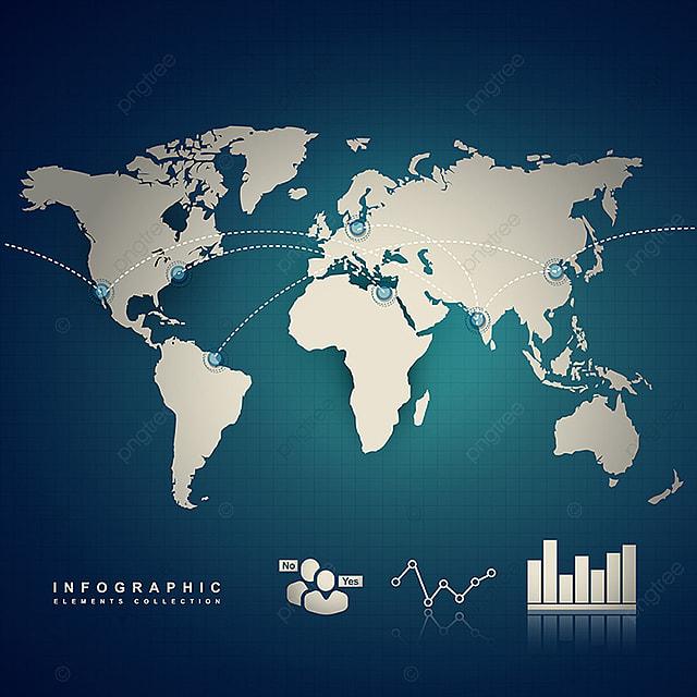 43ec435b0e5 Terra De Infográficos Mapa Mundo Conceito PNG e vetor para download ...