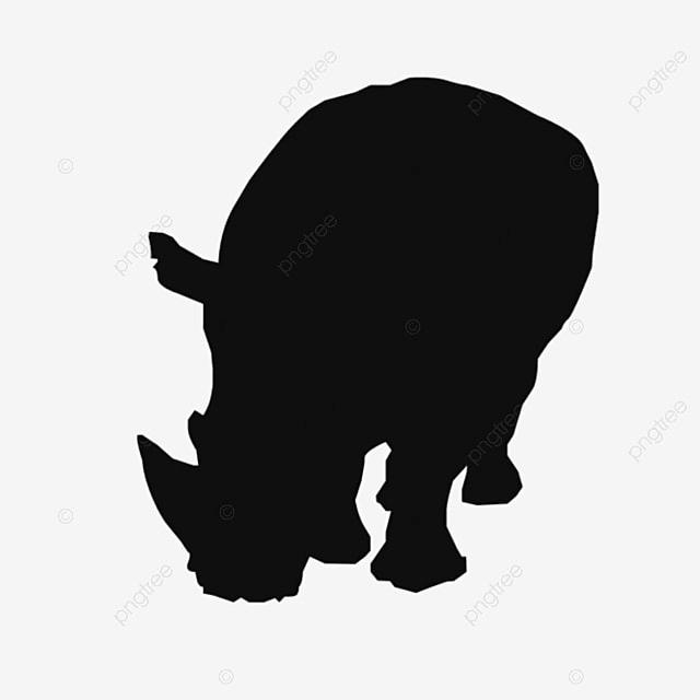 サイ動物のイラストの背景 サイ 切り紙 ブラック画像とpsd素材ファイルの