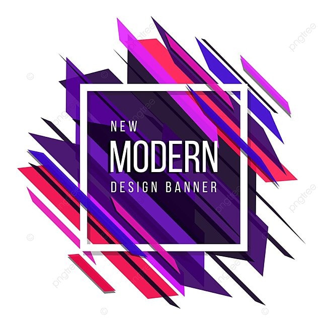 Pink Red And Blue Theme New Modern Abstract Design