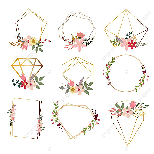 Geometrical Shapes With Flowers, Flower, Floral PNG and ...