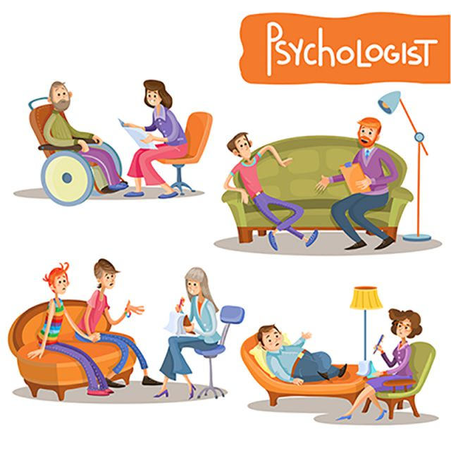 psychologist private practice cartoon vector set  psychologist  talk  consultation png and