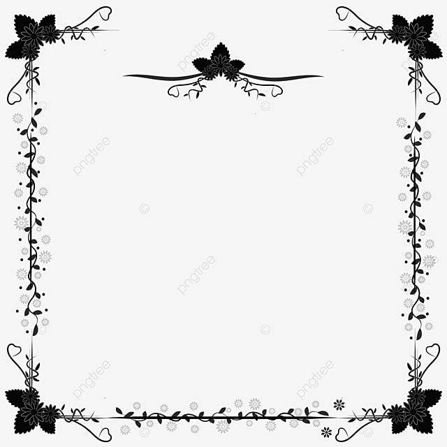 border for invitation card 03 border flower wedding png
