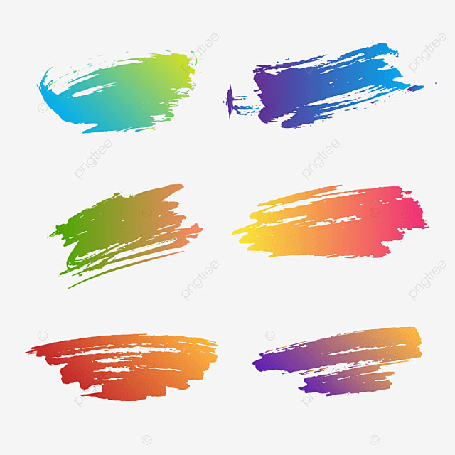 Ink Brushes Colorful Vector Collection, Ink, Brushes