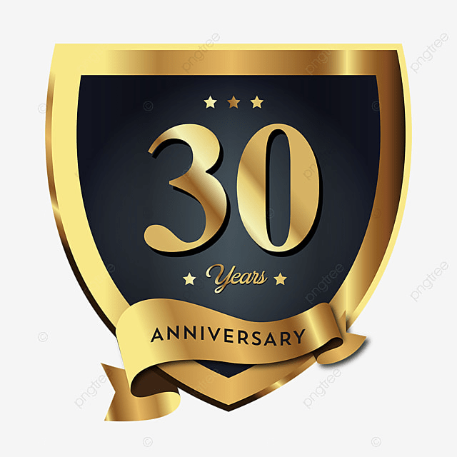 25 30 30 Helloworld: 30th Anniversary Badge Logo Icon, Anniversary, 30