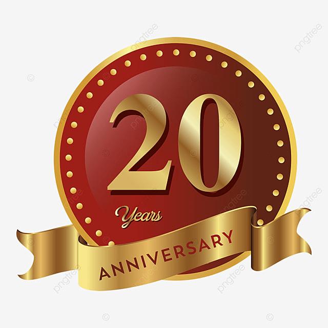 20e anniversaire de l ic u00f4ne de l insigne anniversaire le