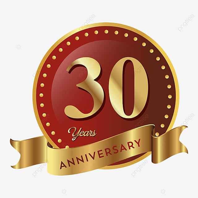 30th Anniversary Badge Logo Icon Anniversary 30 Anniversary Badge