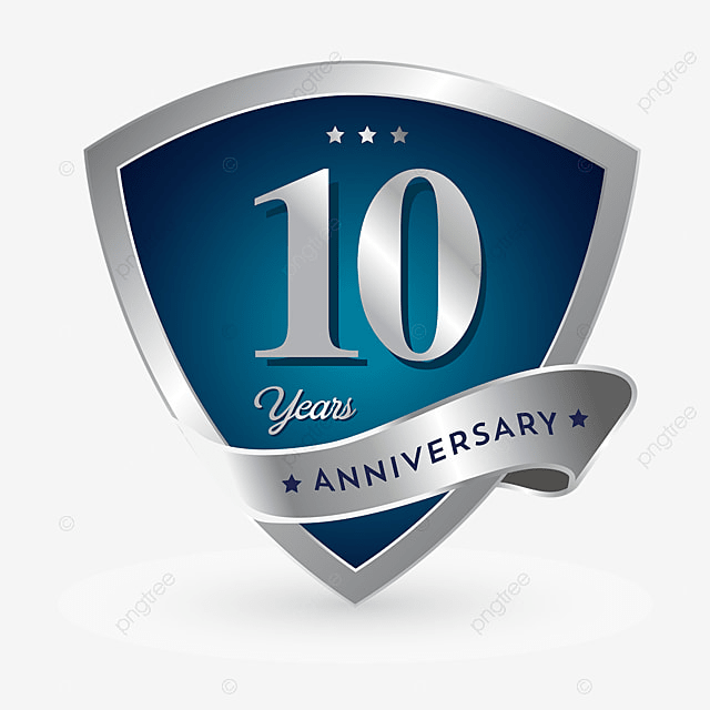 10th Anniversary Badge Logo Icon, Anniversary, 10