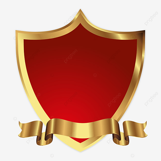 Golden Shields Logo Icon Badges Collection, Shield, Icon ...
