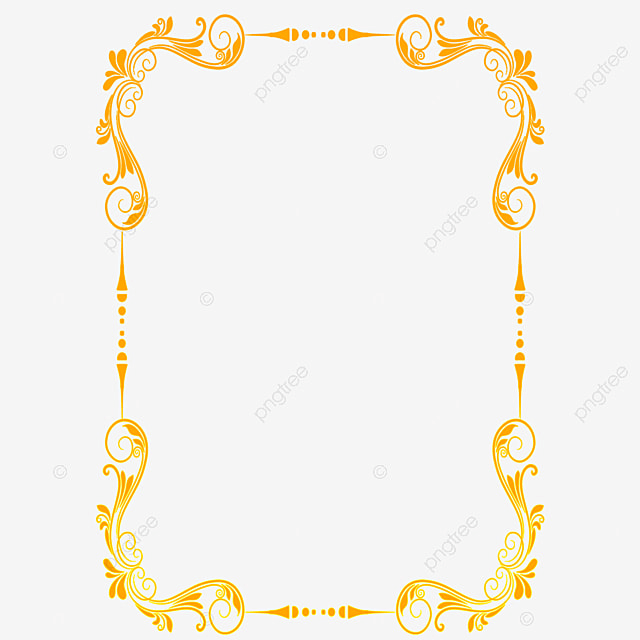 beautiful gold lace royal border png clipart gold lace