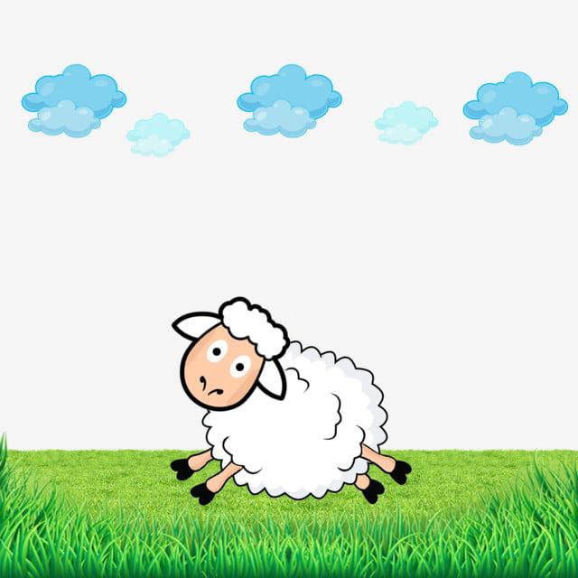 les moutons vecteur animal dessin anim u00e9 mignon fichier png