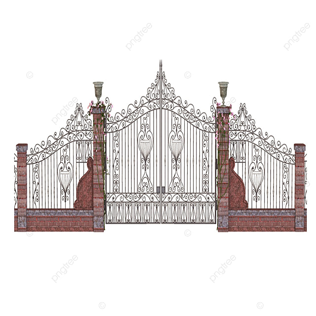 Gate And Fence Design Door Png Psd