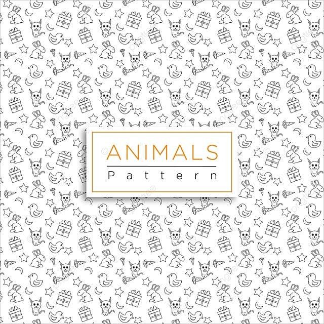 Patrón De Diseño De Animales Animales Animal Background PNG y Vector ...