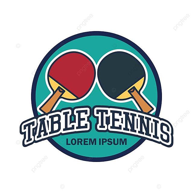 3c554600e Tenis de mesa   Ping pong logo con texto espacio para tu lema   linea de la  etiqueta