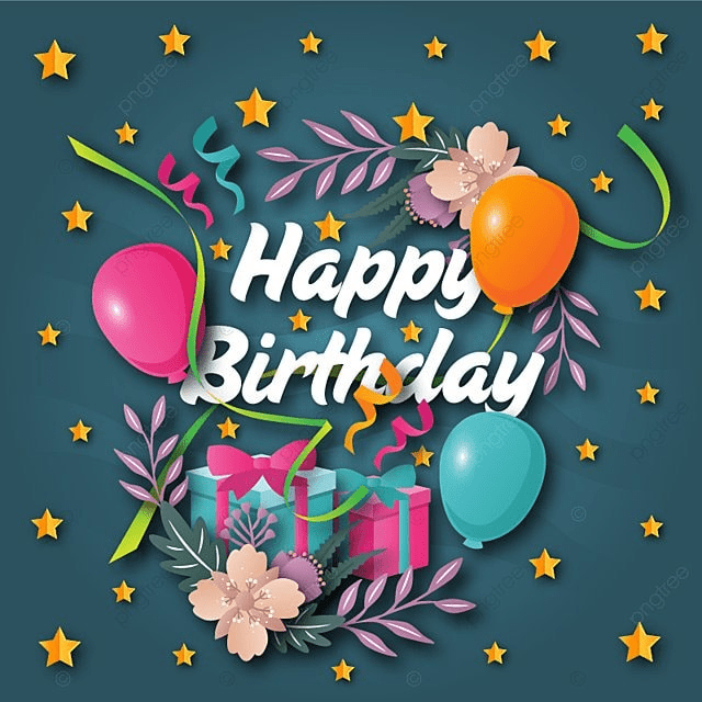 Cute Happy Birthday Greeting Card And Banner Illustration Party PNG Copyright Complaint Download The Free