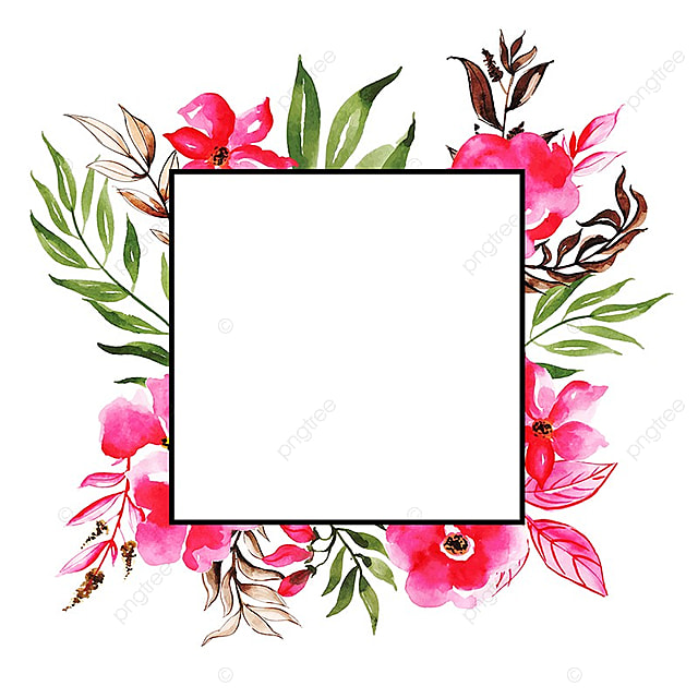 Watercolor Floral Frame Multi-Purpose Background For Anniversary ...