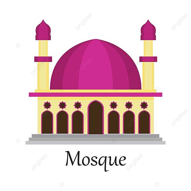 Masjid Islam Masjid Untuk Muslim Berdoa Ikon Vektor Ilustrasi Masjid