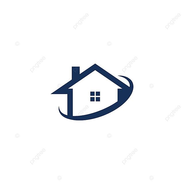 Ilustra o da casa e logo logotipo abstrato conceito de for Casa logo