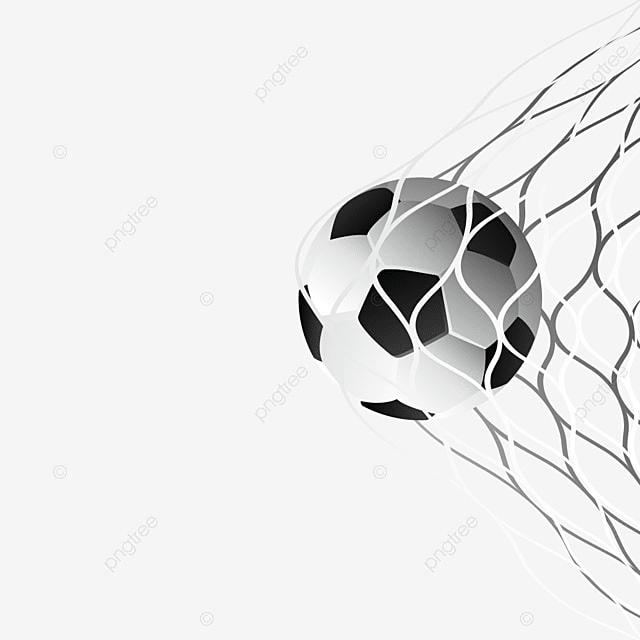 6ac1db400e8ce Balón de fútbol en la red de la portería del vector Gratis PNG y Vector