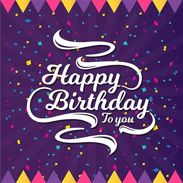 Happy Birthday Greeting Card And Banner Illustration Party PNG Vector