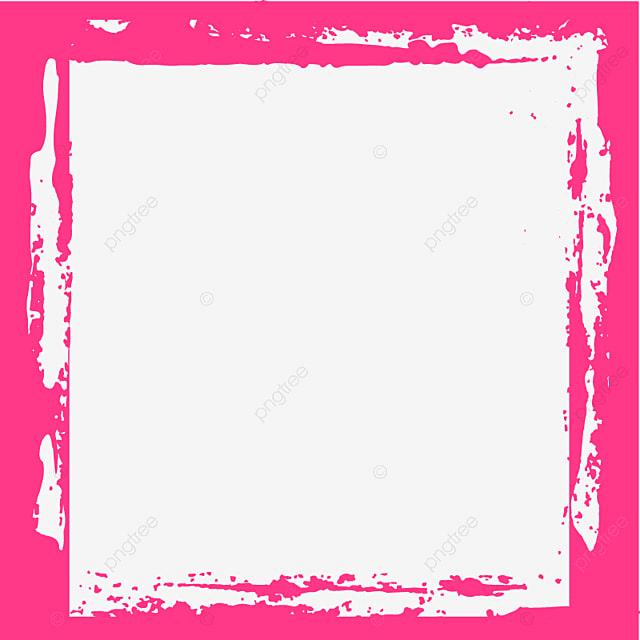 Pink Grunge Blank Frame, Shape, Frame, Line PNG And Vector