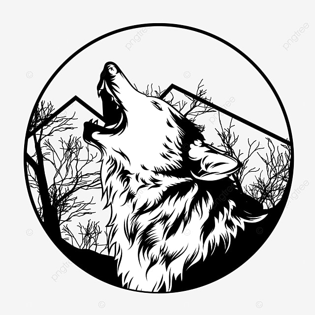Lone Wolf Vector Illustration Lone Wolf Angry Png And