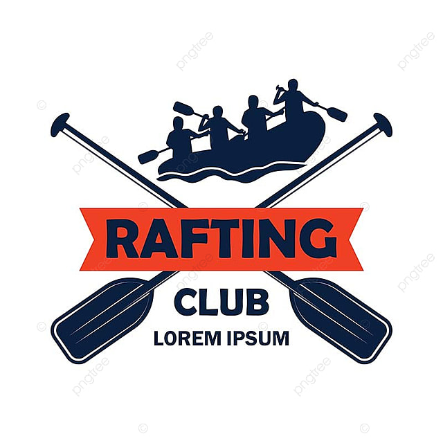 Rafting Logo With Text Space For Your Slogan / Tag Line