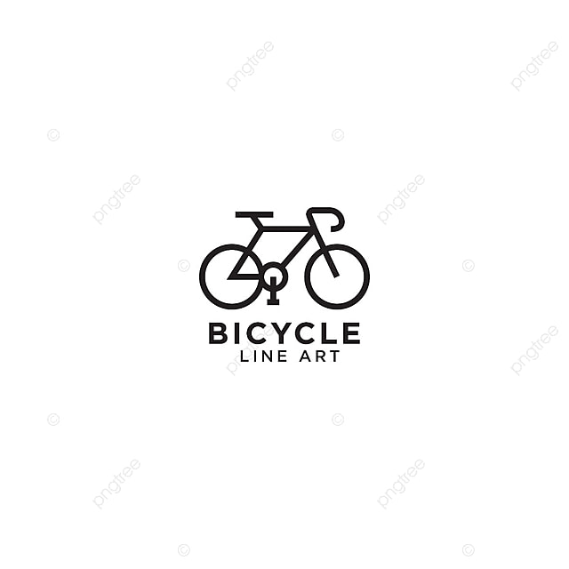 Bicycle Line Art Logo Design Template, Bike, Icon, Line PNG and ...