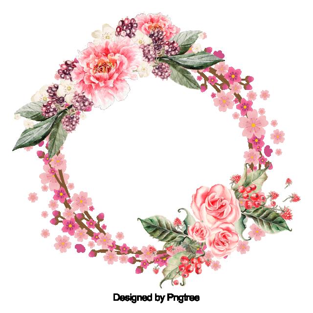 belle fleur couronne avec feuilles de conception fleur