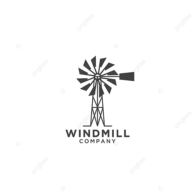 windmill logo design template windmill logo vector png and vector