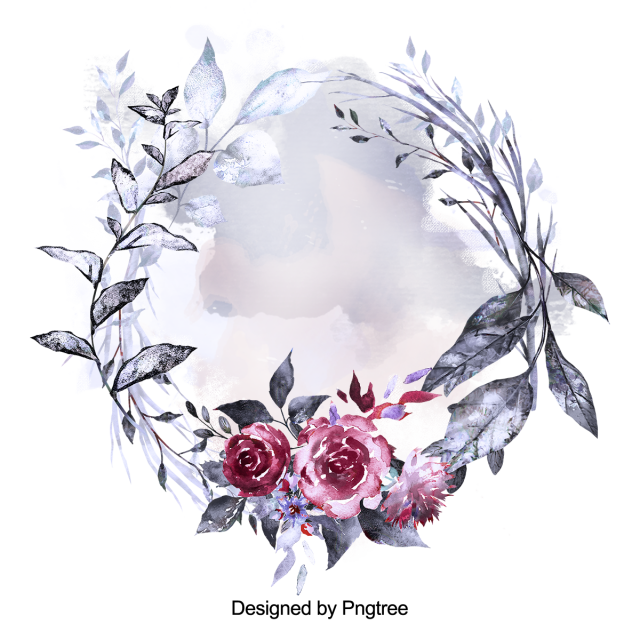 Watercolor Flowers Png Vector Psd And Clipart With: Beautiful Hand Paint Watercolor Frame, Flower, Flowers