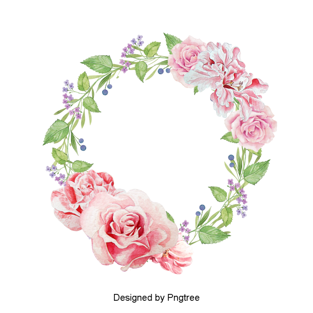 Watercolor Flowers Png Vector Psd And Clipart With: Beautiful Hand Paint Watercolor Floral Wreath, Flower