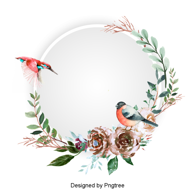 Watercolor Flowers Png Vector Psd And Clipart With: Beautiful Hand Paint Watercolor Floral Wreath Border