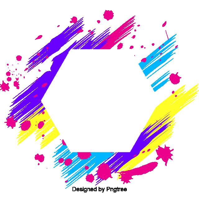 Color De Línea De Marco Geométrico De Colores Colorful Colorido ...