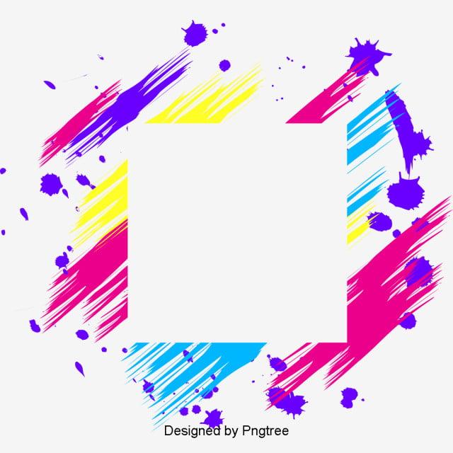 Coloured Color Geometric Line Frame Colorful Color