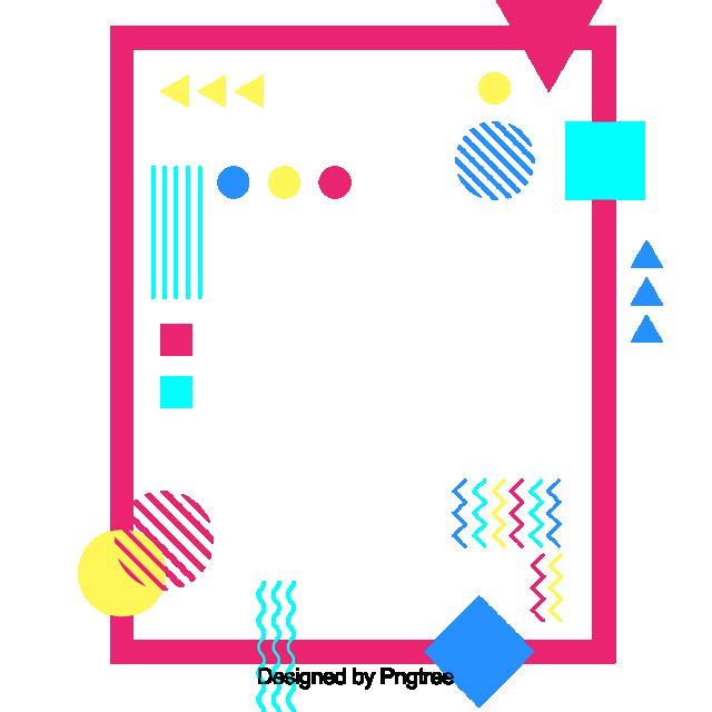 ffd43b5e6b44 Square Polygon Of Coloured Color Geometric Frame