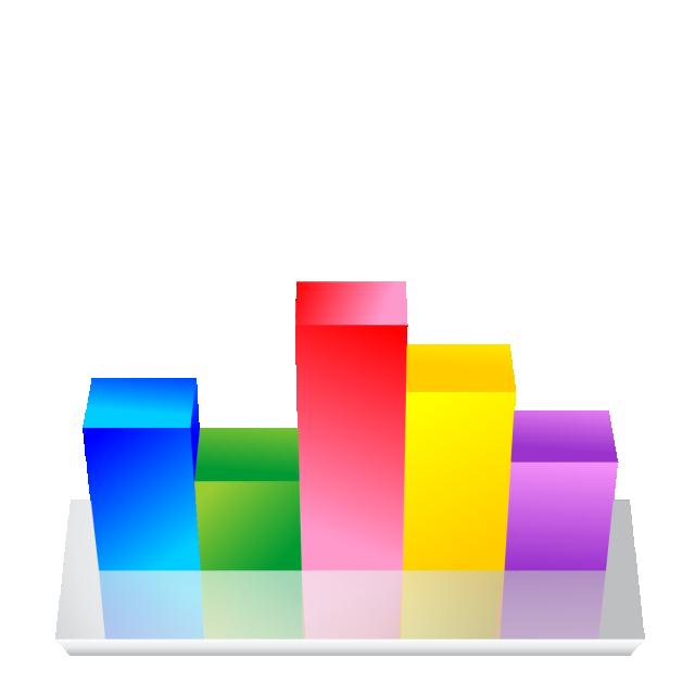 3D Bar Chart Graph, Bar Chart, Graph, 3d PNG Transparent Image and