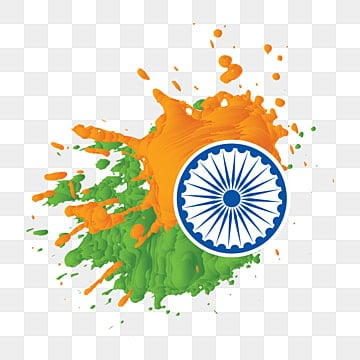 3d splatter splash of independence day india with chakra, Indian Freedom, 15 August, Indian PNG and Vector