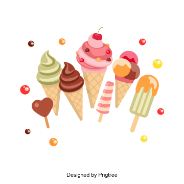 Beautiful cool delicious cartoon summer drink ice cream, Beautiful, Cool, Delicious PNG and PSD