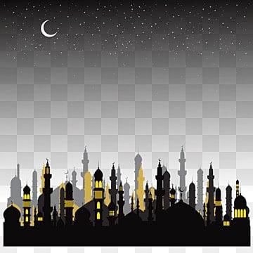 Исламская ночь фон с мечетью и Ид аль Адха png скачать бесплатно, городской клипарт, Рамадан Карим, рамадан PNG ресурс рисунок и векторное изображение
