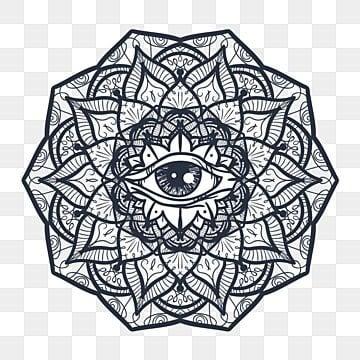 d69bbec22f846 mystical mandala with eye, Eye, Symbol, Illustration PNG and Vector