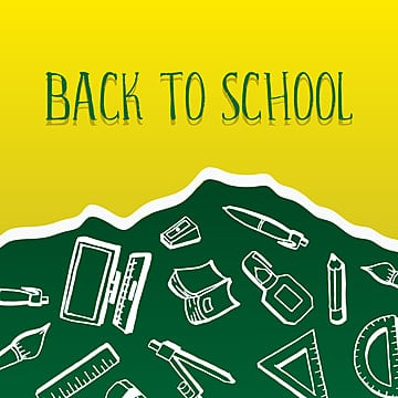 back to school banner with creative drawing of student equipments doodle, Banner, School, Illustration PNG and Vector