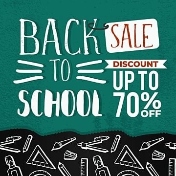 back to school sale banner with hand drawn creative student equipments, Back, Education, Doodle PNG and Vector