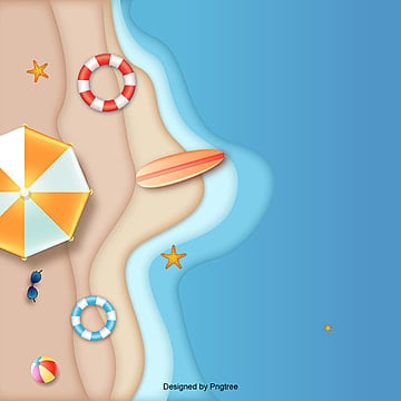 hot summer vacation with  and sea, Hot, Umbrella, Summer PNG and Vector