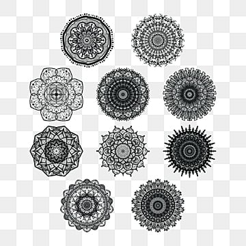 45eceb44fbb61 Mandala collection vector art design, Mandala, Ornament, Meditation PNG and  Vector