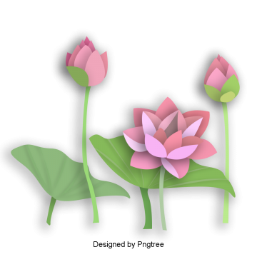 Beautiful Chinese wind hand-painted origami flower lotus, Beautiful, Chinese Wind, Hand-painted PNG and PSD
