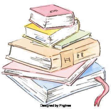 Cartoon hand painted school books stationery design, Cartoon, Hand Painted, Student PNG and PSD