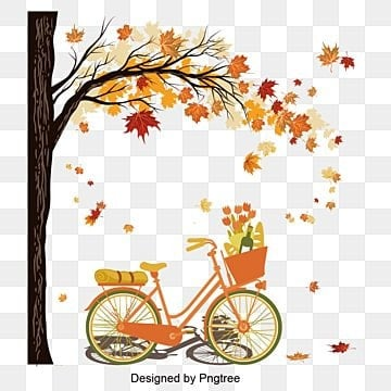 travel material design to ride a bicycle in autumn, Autumn, Riding, Bicycle PNG images and vector graphics